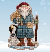 Mill Hill Penguin Santa MH20-2031 Christmas Ornament beaded counted cross stitch kit