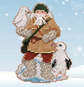 Mill Hill Albatross Santa MH20-2033 Christmas Ornament beaded counted cross stitch kit