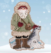 Mill Hill Leopard Seal Santa MH20-2032 Christmas Ornament beaded counted cross stitch kit