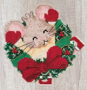 Mill Hill Mouse Trilogy Patsy Pine MH19-2011 Christmas Ornament beaded counted cross stitch kit