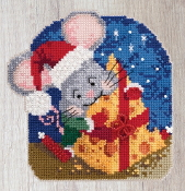 Mill Hill Mouse Trilogy Mac Cheese MH19-2012 Christmas Ornament beaded counted cross stitch kit