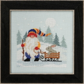 Mill Hill - Sledding Gnome MH17-2012 beaded counted cross stitch kit