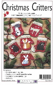 Rachel's of Greenfield Christmas Critters - Christmas Ornaments embroidery kit