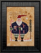 Heart In Hand Wee Santa 2020 Counted cross stitch pattern, chart