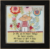 Mill Hill Curly Girl Design - Little Dirt beaded counted cross stitch kit