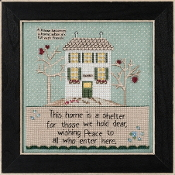 Mill Hill Curly Girl Design - Home is a Shelter beaded counted cross stitch kit
