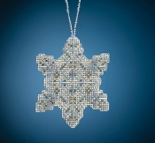 Mill Hill Beaded Holiday Crystal Snowflake MH21-2011 Ornament counted cross stitch kit
