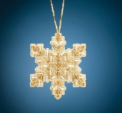 Mill Hill Beaded Holiday Golden Snowflake MH21-2012 Ornament counted cross stitch kit