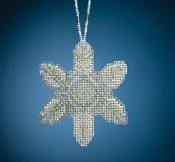 Mill Hill Beaded Holiday Opal Ice Snowflake MH21-2013 Ornament counted cross stitch kit