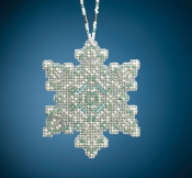 Mill Hill Beaded Holiday Aqua Mist Snowflake MH21-2015 Ornament counted cross stitch kit