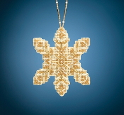 Mill Hill Beaded Holiday Pearl Snowflake MH21-2016 Ornament counted cross stitch kit