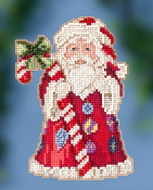 Jim Shore by Mill Hill - Candy Cane Santa JS20-2016 Christmas Ornament beaded counted cross stitch kit
