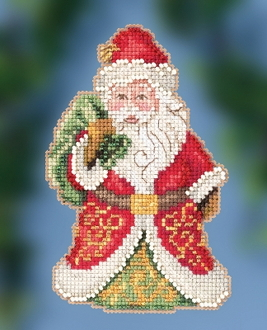 Jim Shore by Mill Hill - Gift Bearing Santa JS20-2015 Christmas Ornament beaded counted cross stitch kit