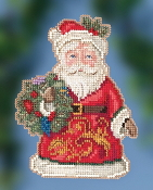 Jim Shore by Mill Hill - Winter Wishes Santa JS20-2014 Christmas Ornament beaded counted cross stitch kit