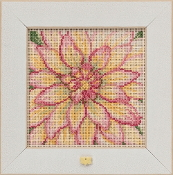 Mill Hill Spring Series Dahlia beaded counted cross stitch kit