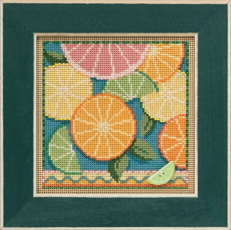 Mill Hill Spring Series Citrus beaded counted cross stitch kit