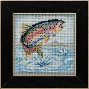 Mill Hill Spring Series Rainbow Trout beaded counted cross stitch kit