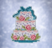 Mill Hill Spring Bouquet collection Frosted Cake counted cross stitch ornament kit