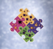 Mill Hill Spring Bouquet collection Puzzled counted cross stitch ornament kit