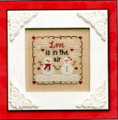Country Cottage Needleworks Love is in the Air Counted cross stitch pattern chart