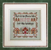 Country Cottage Needleworks Home for the Holidays Counted cross stitch pattern chart