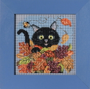 Mill Hill Autumn Series Playful Cat beaded counted cross stitch kit
