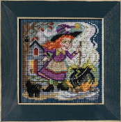 Mill Hill Autumn Series Witch's Brew beaded counted cross stitch kit
