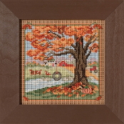 Mill Hill Autumn Series Autumn Swing beaded counted cross stitch kit