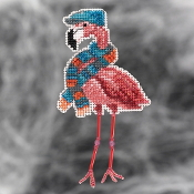 Mill Hill Autumn Harvest collection ornaments Fall Flamingo counted cross stitch ornament kit