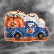 Mill Hill Autumn Harvest collection ornaments Pumpkin Delivery counted cross stitch ornament kit