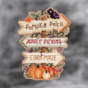 Mill Hill Autumn Harvest collection ornaments Fall Fun counted cross stitch ornament kit