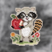 Mill Hill Autumn Harvest collection ornaments Rosie Raccoon counted cross stitch ornament kit