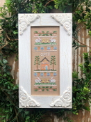 Country Cottage Needleworks April Sampler Counted cross stitch pattern chart