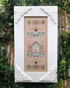 Country Cottage Needleworks May Sampler Counted cross stitch pattern chart