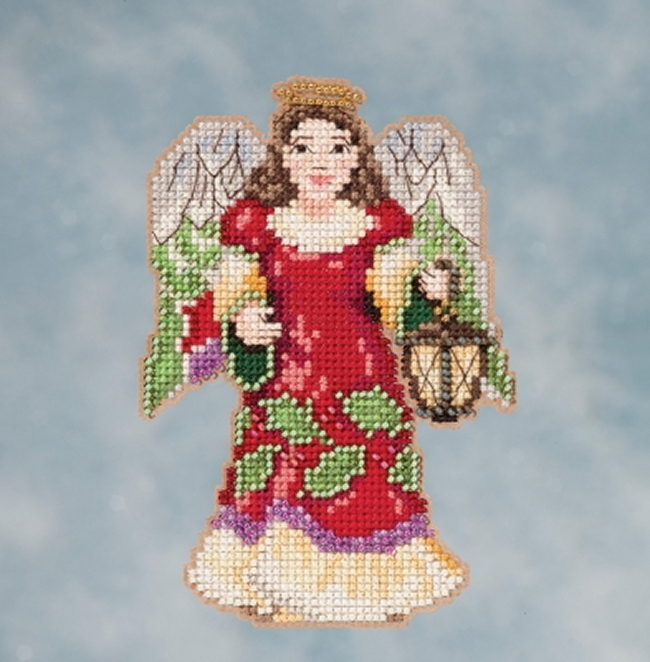 Jim Shore by Mill Hill - Angel with Lantern JS20-1612 Christmas Ornament beaded counted cross stitch kit
