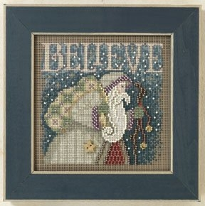 Mill Hill Buttons Beads Winter Series - Believe Christmas beaded counted cross stitch kit