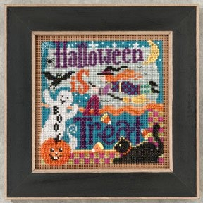 Mill Hill Autumn Series Halloween is a Treat Beaded Counted Cross stitch kit